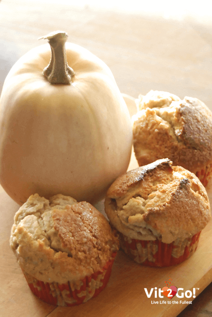 Kürbis und Zucchini Muffins