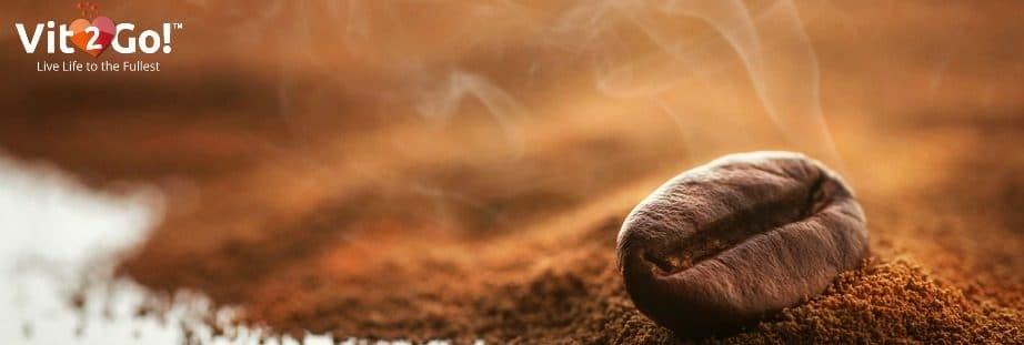 Duftende Kaffeebohne.
