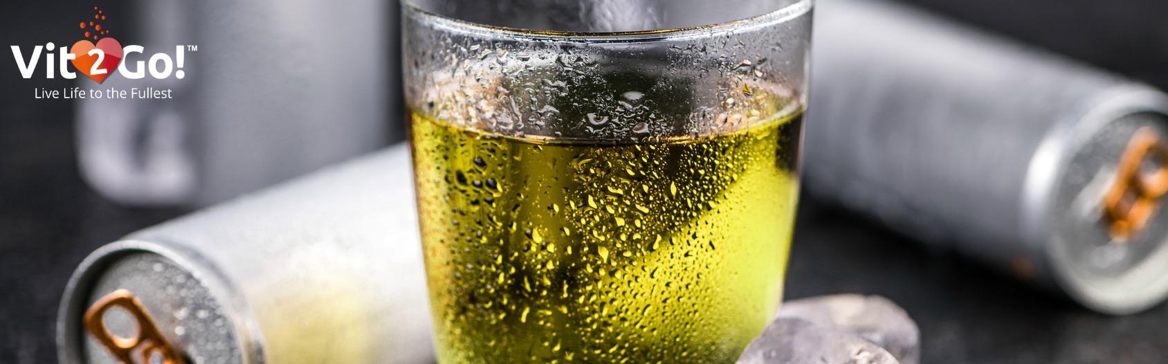Taurin ist ein beliebter Wirkstoff in Energy Drinks.